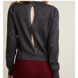LAST ☝️❗️NWOT ModCloth Metallic Open Back Sweater